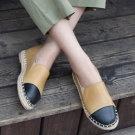 韓國土黃編織小圓鞋