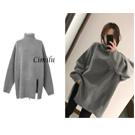韓國熱銷顯瘦寬鬆高領毛衣