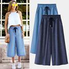 歐美時尚寬鬆百搭牛仔褲裙