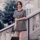 氣質淑女拼色連身裙(3色)