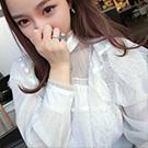 春季新款蕾絲白襯衫