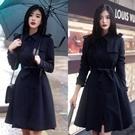 ♥韓國空運蝴蝶結顯瘦綁帶風衣