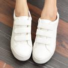 三線條魔鬼氈小白鞋