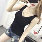 韓版針織背心V領無袖T恤