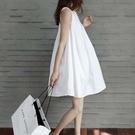 時尚版型無袖蓬蓬連身裙2色