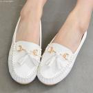流蘇釦飾超軟豆豆鞋