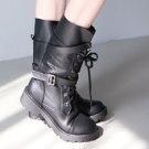 韓星機場帥氣中筒靴