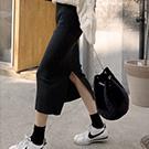 高腰針織長裙包臀窄裙