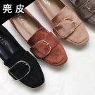 韓國麂皮大U釦休閒鞋
