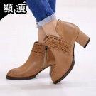 韓國復古V字短靴