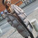 冬裝保暖加厚長版連帽外套