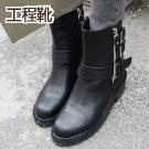 韓國東大門獨家機車靴
