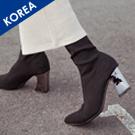 韓.金屬高跟彈性襪靴