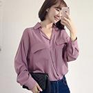 韓國直送大口袋長袖襯衫