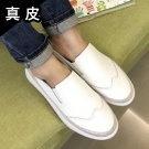 韓國真皮銀邊小白鞋