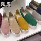 韓國麂皮厚底懶人鞋