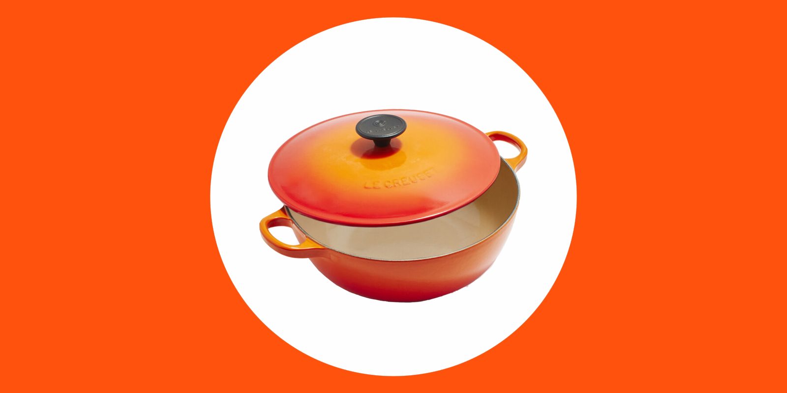 Le Creuset kitchenware is 50% off
