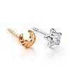 商品品牌:周大福珠寶商品模號:105489耳環材質:18k白金、玫瑰金