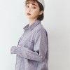 VOL834經典配色格紋款襯衫小清新俐落感學院風格紅.藍.咖.淺粉.粉.藍紫~6色