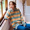繽紛條紋配色為你帶來青春活力感 寬鬆版型剪裁活動方便又舒適