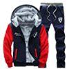 顏色:灰衣藍袖/藍衣灰袖/黑衣深灰袖/藍衣紅袖  尺寸:M/L/XL/2L/3L/4L