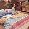 高級法蘭絨材質 蓄溫力強 法蘭絨毯可當薄被毯蓋 也可再加入厚被
