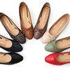娃娃鞋一直是鞋櫃裡不可少的單品微尖的方頭楦型具有修飾腳型的效果搭配小巧蝴蝶結,讓腳上更添甜美感