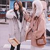 ◆ 顏色/米杏色、駝色 ◆ 尺碼/S.M.L.XL ◆ 材質/毛呢(30%羊毛),有內裡、毛領可拆