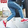 ‧Levis 514系列,整體偏修身‧從大腿至褲管直筒剪裁‧穿著更舒適