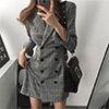 ◆ 顏色 / 如圖◆ 材質 / 聚酯纖維◆ 性感帥氣英倫西裝連身裙✨