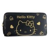 小禮堂 Hello Kitty 皮質拉鍊