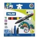 ◆8色+2支變色魔法筆,自由創造魔法色彩 ◆錐形筆頭:尖頭畫細線,傾側邊可大面積上色
