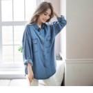 簡單率性的仿牛仔版型,不僅可單穿或當罩衫做搭配,創造出屬於自己原宿CHIC味