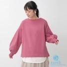 ■Natural Label■  圓領休閒上衣 舒適親膚 蓬鬆袖打造流行趨勢 甜美可愛