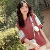 採用透氣排汗的棉料, 簡單搭配純色下著,輕鬆完成休閒日常穿搭 ~