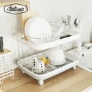 ★時尚純白色,瀝乾碗盤輕鬆又優雅 ★可依照流理臺位置,自由調整排水角度