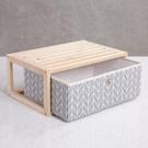 ‧ 打造出全新收納居家風格 ‧ 杉木光滑平整,做工細緻 ‧ 收納箱織布材質,耐用持久
