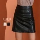 秋1029【19380】你們敲碗的皮短裙來啦!!短褲裙設計外出不走光!