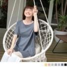 高棉含量的素色面料親膚透氣,穿著舒適宜人展現好感穿搭