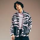 街頭滑板人必備 高質感刷毛外套 潮流香芋紫斑馬紋