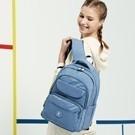 單一簡約配色 筆電平板專屬防撞收納層 可掛行李箱拉桿 哨子防滑胸扣設計 減壓背帶設計 溫柔沈穩色系