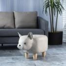 .動物造型椅凳俏皮可愛。 .坐墊厚實舒適觸感佳。 .橡膠木腳座堅固耐用。