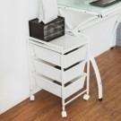 圓弧修邊不刮手。 抽屜環保PP材質。 當作文件櫃或廚房收納櫃都適合。