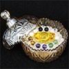 琉璃材質消磁碗x 1個  附白水晶300公克 已淨化 琉璃元寶1顆 底部有粘招財符 可淨化手鍊 飾品