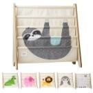 ◆加拿大設計的動物手繪風圖案  ◆專為幼兒童量身打造的書架