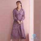 ■Premium Label■  分層式蛋糕裙設計,可愛注目 V領及側抽繩綁結更增添女人為魅力