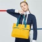 輕量防潑水尼龍面料 多隔層實用收納 包款輕盈好攜帶 亮彩包款點綴簡約拉鍊設計 日常外出最佳夥伴