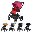 ◆座位全平躺新生兒可使用 ◆單手收車雙向可收 ◆大輪推車四輪避震 ◆超高座位可當餐椅