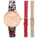 ●極致奢華晶鑽系列 ●套錶組附兩只皮革錶帶 ●原廠錶盒、保固一年