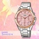 .生活防水 .碼錶/日期顯示 .採用施華洛士奇 .不鏽鋼錶帶&錶殼 .錶圈玫瑰金離子IP處理